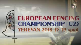 FE 2018 P1 M S Individual Yerevan ARM U23 European Championships podium SHENGELIA GEO vs CAVALIERE I