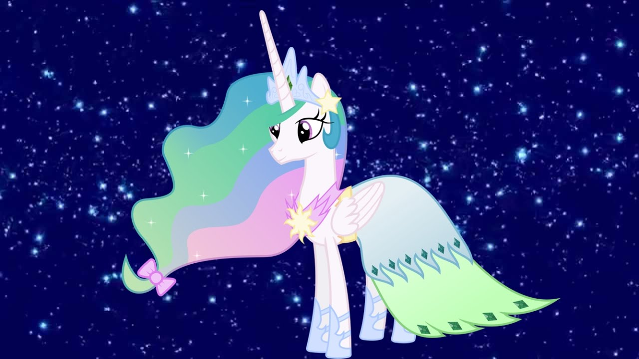 Princess Celestia Changed 4 Beautiful Dresses Coloring Page For Kids