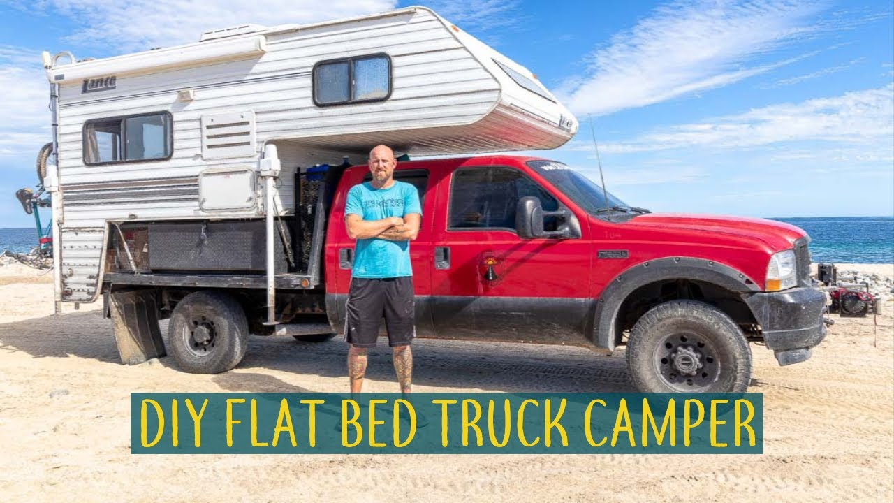 Diy Flatbed Truck Camper 4x4 Adventure Mobile Flatbed Truck Camper Tour Ctw Youtube