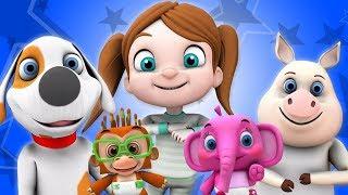 Ветер Боббин Вверх | детские стишки | мультфильмы для детей | Little Treehouse | Wind The Bobbin Up