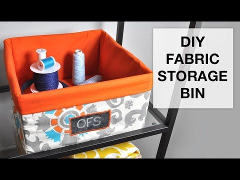 Diy Fabric Storage Bin Tutorial Youtube