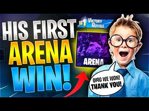Cutest 10 Year Old CARRIED To First WIN Fortnite Battle Royale
