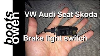 VW T4 Brake Light Switch swop
