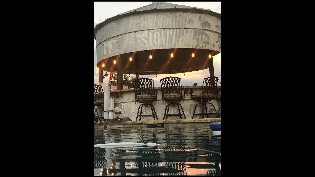 Farm Grain Bin Silo Converted into Outdoor Kitchen / Bar Justin Texas