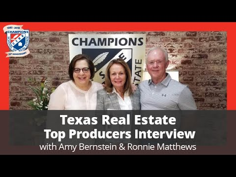 Texas Real Estate Top Producers Interview with Amy Bernstein  and Ronnie Mathews