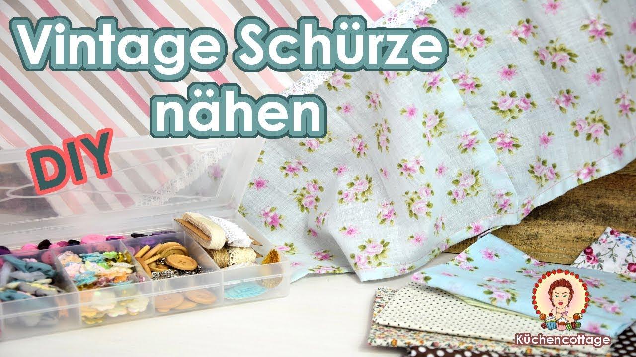 Vintage Schürze nähen | DIY | IKEA & TEDI | Tutorial Anleitung ...