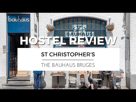 Visiting BRUGES with ST CHRISTOPHER'S AT THE BAUHAUS | HOSTEL REVIEW TRAVEL VLOG