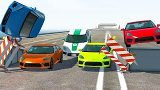 POLICE CHASE DEATH RUN ENDURANCE TEST! - BeamNG Drive Crash Test Compilation