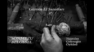 Hanlar Gumus Kakma El Sanatlari Celik Civi Kalem Hazırlama Halis AVCI Silver Repousse Work Hand Made