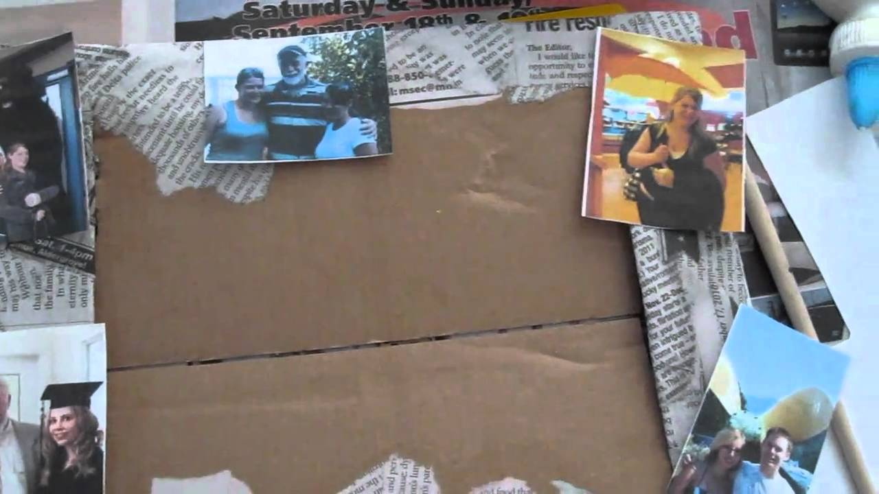 photo frame made from recycled material - YouTube