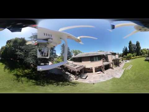 360 VR Drone flight above home in Palo Alto