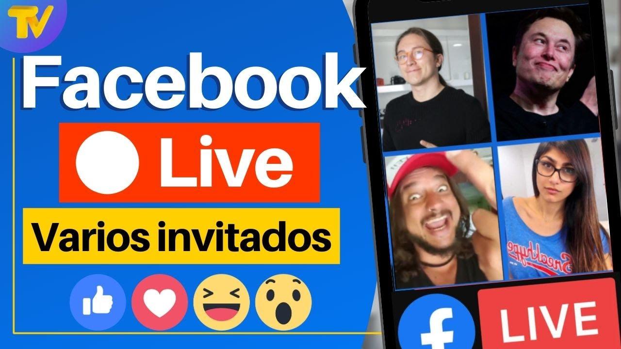 Download Cómo hacer un live 🔴 en Facebook con varias personas   🙋♂️🤳🙋🕺👦  hasta 6 invitados en vivo