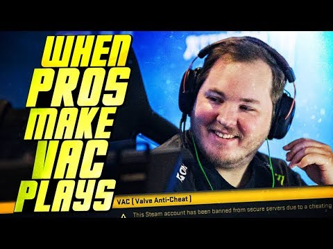 WHEN CS:GO PROS MAKE SUSPICIOUS VAC PLAYS!  Ft. SHOX , S1MPLE &MORE!