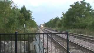 Metra 172 at Evanston, IL with Private car and Pullman coach