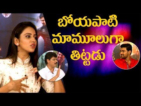 ''Boyapati Srinu scolds us on sets'' || Rakul Preet || Bellamkonda Sreenivas || Jaya Janaki Nayaka