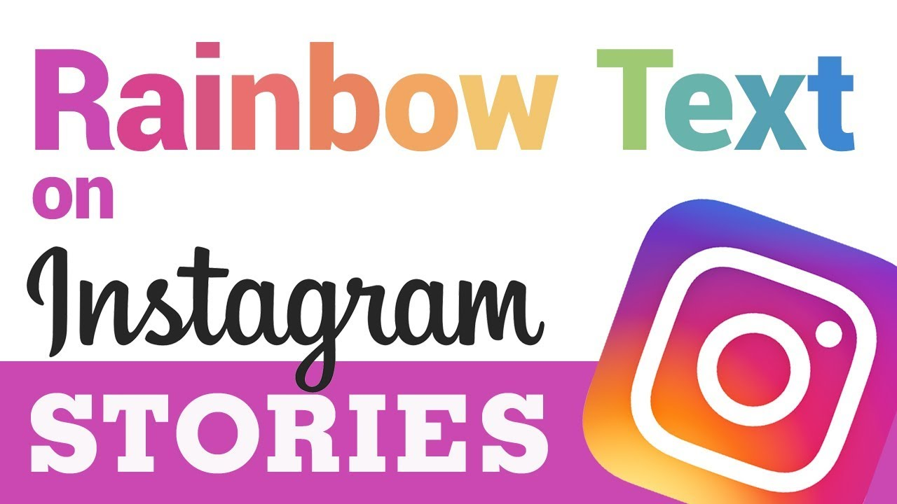 How to Get Rainbow Text on #Instagram Stories (Easy Under 1 Minute!)