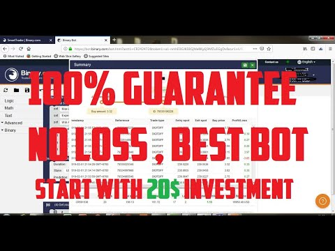 4 – Binary Trading – Best Binary Bot Strategy – Start with 20$ Capital – 100% Guaranteed Profitable