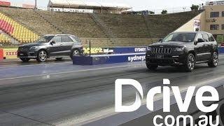 Jeep Srt8 V Amg Ml63 | Drag Race | Drive.Com.Au