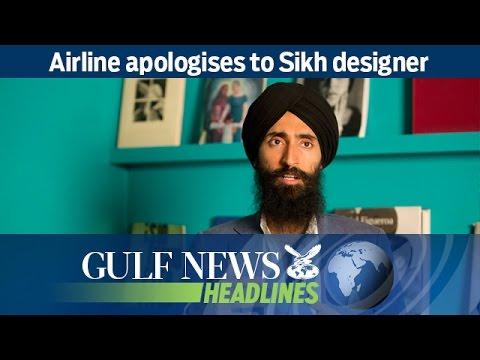 Airline apologises to Sikh designer - GN Headlines