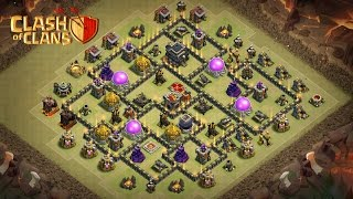 "How To 3 STARS this POPULAR ""(TH9 ANTI GOVAHO + HGHB)"" WAR BASE 
