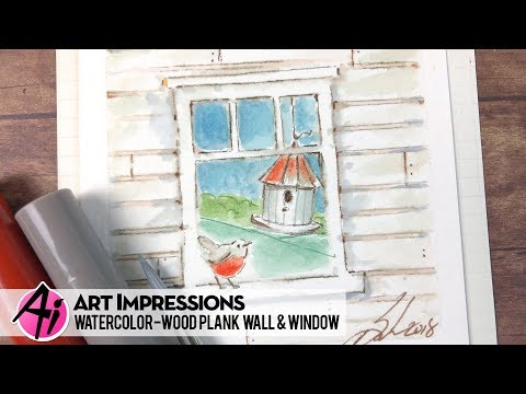 Ai Watercolor - Wood Plank Wall & Window