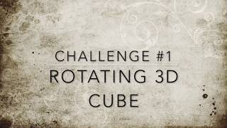 30 Minute Coding Challenge #1 Rotating 3D Cube Using HTML and CSS Only