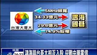 4G結盟 鴻海郭台銘與台哥大聯手-民視新聞
