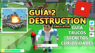 Destruction Simulator EXP as fast upload, area 30, pump 2 M CODES, Roblox Spanish Tutorial 2 Guide