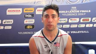 Interview with Taylor Sander  USA Attacker | 2014 FIVB World League Finals