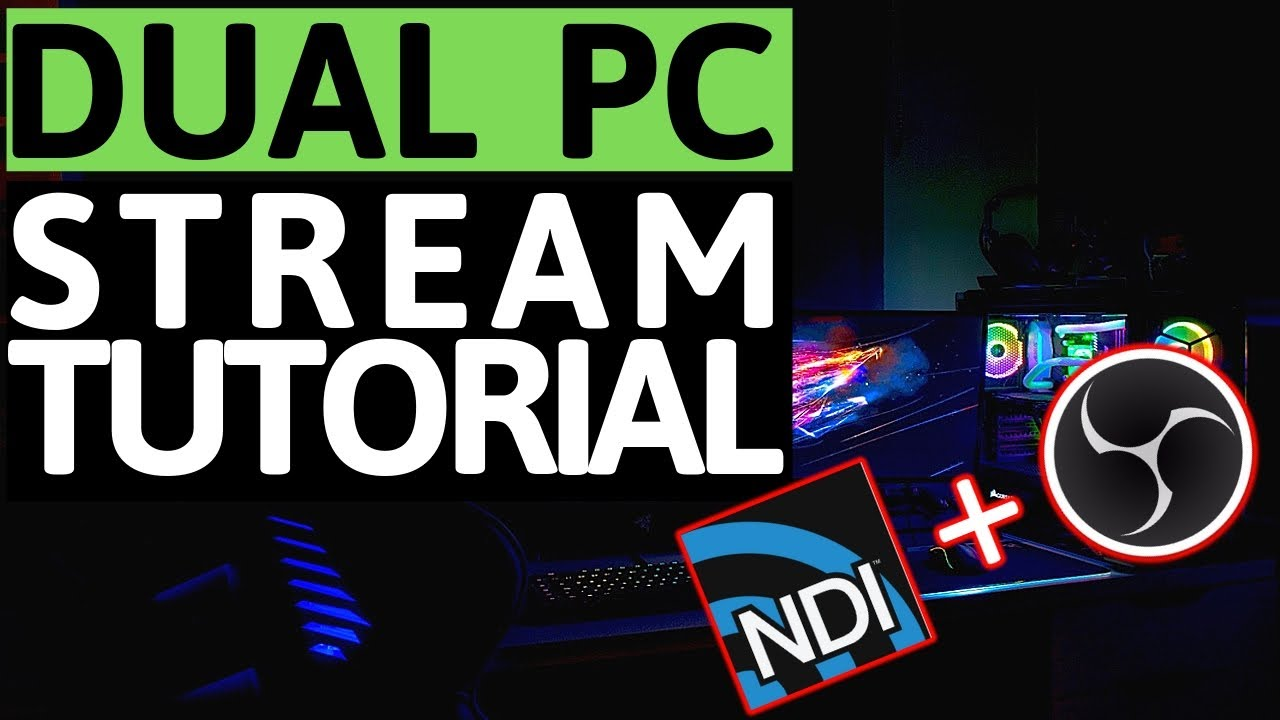 How to fix Lag and Stutter | Dual PC Stream Tutorial using OBS-NDI