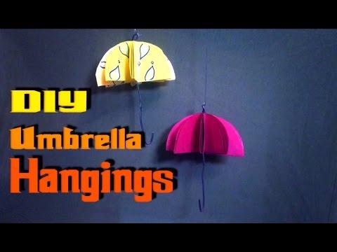 DIY Umbrella Hangings | Home Decoration | Paper Umbrella | DIY Crafts