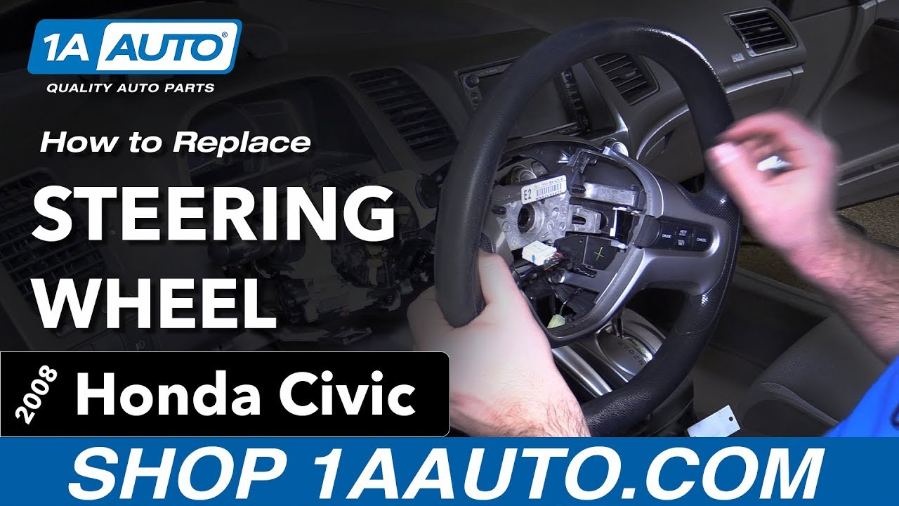How To Replace Steering Wheel 05 11 Honda Civic Youtube 07 Accord Fog Light Harness Switch Premium