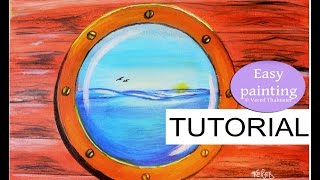 How To Paint A Bulls Eye Window Step By Painting Tutorial