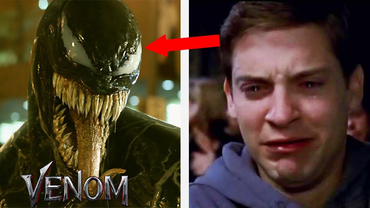 Spiderman Tobey Maguire Reacts To Venom Movie Ft Tom Hardy 2018