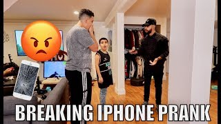BREAKING MY iPHONE PRANK!! *I Flipped Out*