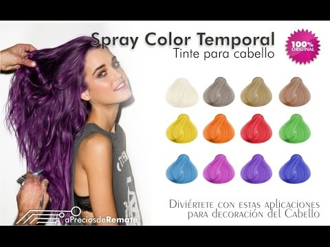 Spray para cabello color