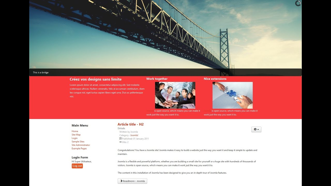 Joomla 3. 4 template creator – make your own templates.