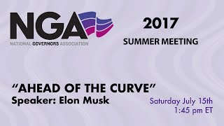"""NGA 2017 SUMMER MEETING — Introducing the New Chair's Initiative """"Ahead of the Curve"""""""