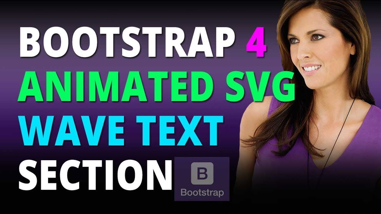Bootstrap 4 Create An Animated SVG Wave Text Section