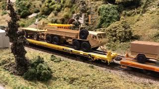 military custom ho scale train  124 cars