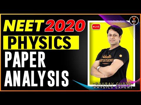 NEET 2020 - Physics Paper Analysis | NEET Physics | NEET Exam 2020 | Gaurav Gupta | Vedantu NEET