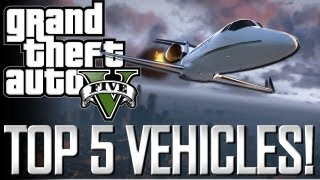 GTA 5 - Top 5 Vehicles!! (Airplanes, Helicopters and Tanks)