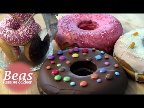 Bratpfannen Kuchen - BISKUIT DONUTS backen - Teig in der Pfanne | Rezept
