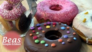 Bratpfannen Kuchen - BISKUIT DONUTS backen - Teig in der Pfanne   Rezept