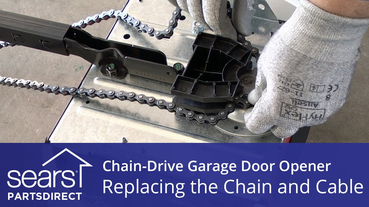 replacing the chain and cable assembly on a chain drive garage door opener youtube [ 1280 x 720 Pixel ]