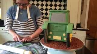 How to Make a 3D Tractor Cake