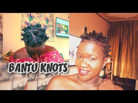 HOW DO YOU DO BANTU KNOTS ON SHORT NATURAl HAIR?