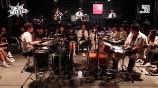 [Drum Battle 2] 미친드럼과 미친베이스기타 | 드럼전쟁 시즌2 준결승①_B (Funk Jam)