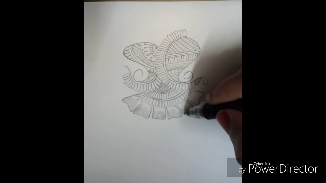 Simple Mehndi Designs Tattoo With Paper Pencil Youtube