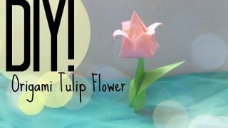 Diy| Origami Tulip | Cutenailpolishart